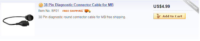 38 Pin Diagnostic Connector Cable for MB