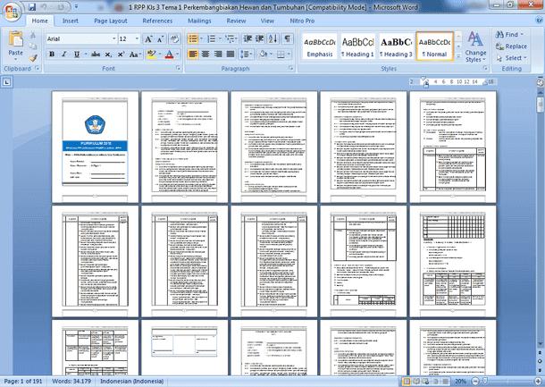 RPP Kelas 3 Semester 1 Kurikulum 2013 Revisi 2019-2020