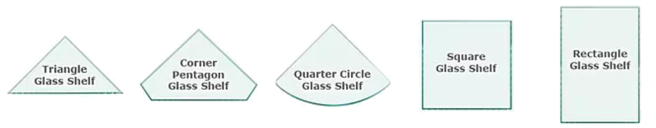 Different shapes of glass available