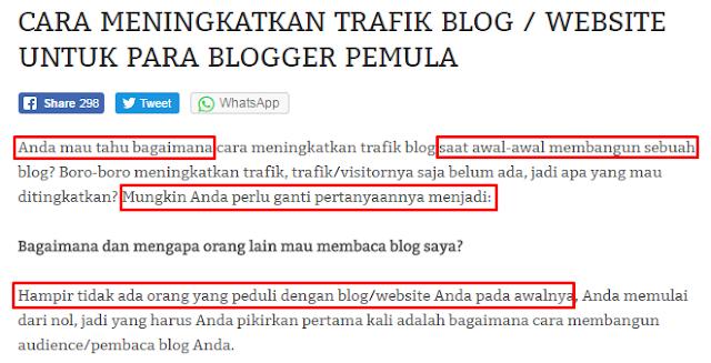 Copy paste seluruh artikel dan pastekan pada blog