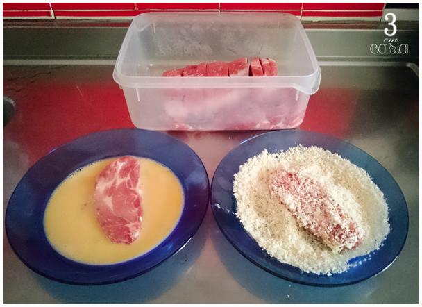carne de porco empanada