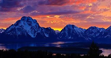 Susan Fowler Fine Art Quot Teton Sunset Quot Original Colorado Mountain Landscape Painting By Colorado