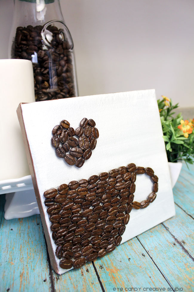 coffee beans, coffee bean art, kitchen art, coffee lovers, coffee bean heart