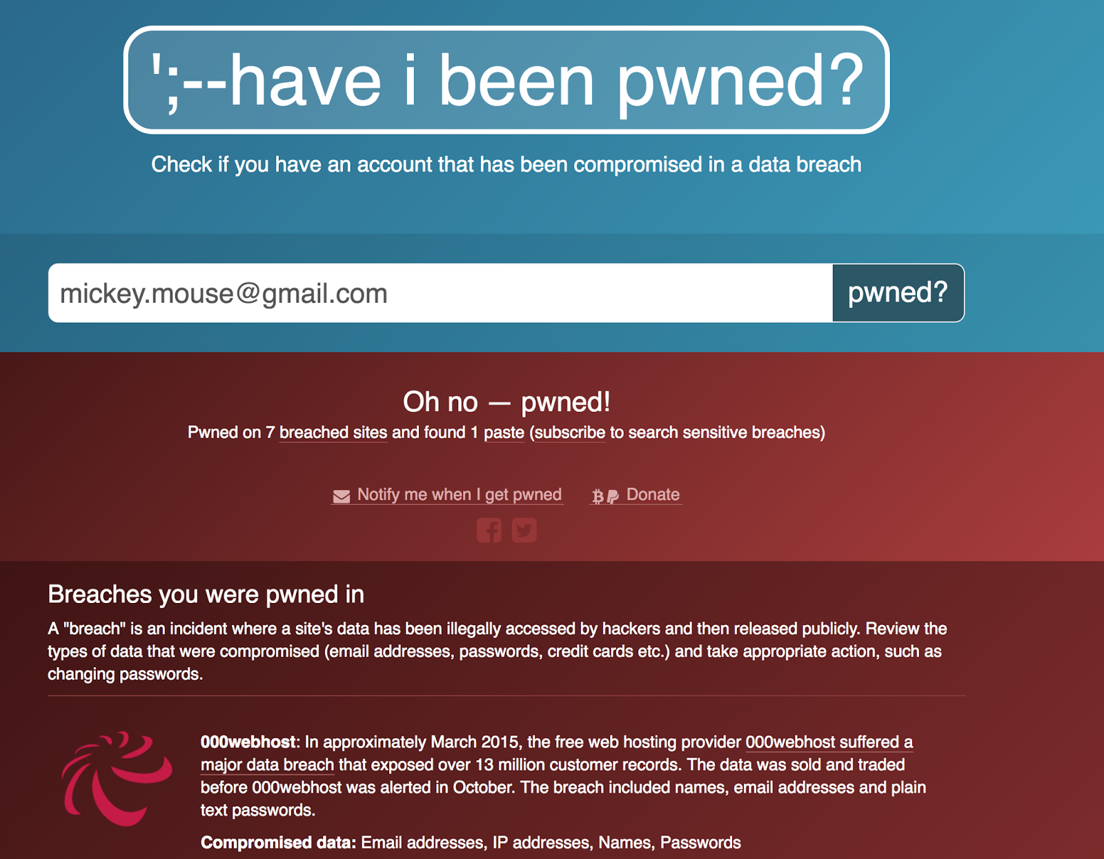 Have I Been Pwned Authentication Module - ForgeRock
