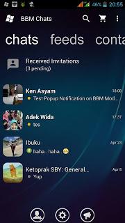 BBM Transparan Mod Versi 2.13.1.14 Add Block Read Status