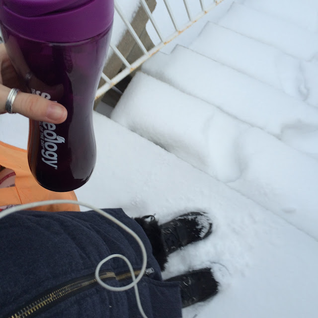 Shakeology in the snow