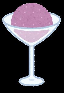シャーベットのイラスト(紫)