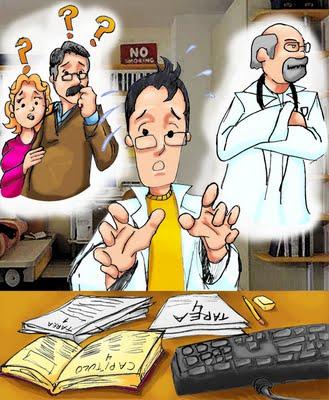 Resultado de imagen para estudiante de medicina estresado