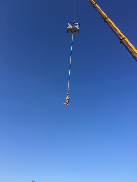Bungeejump above Balaton Sound festival