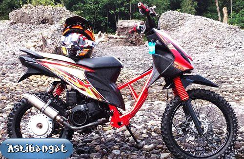 Gambar Modifikasi Motor Trail Matic