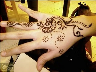 Kumpulan Motif Henna Tangan Sederhana, Henna Simple Untuk Acara