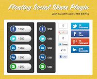 Hướng dẫn tạo Floating Social Bookmark trượt đẹp cho Blogspot