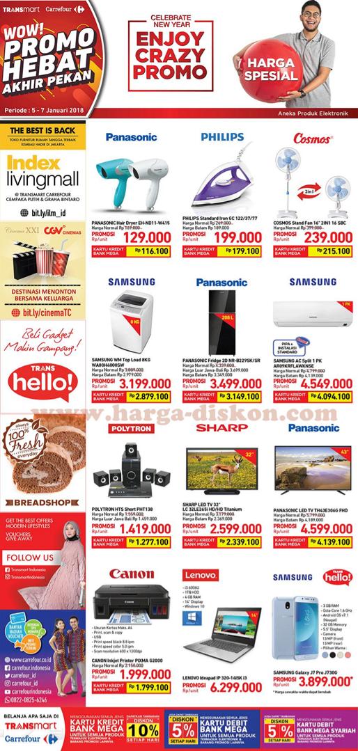 Katalog Promo CARREFOUR dan TRANSMART Periode 05 - 07 Januari 2018 - 4