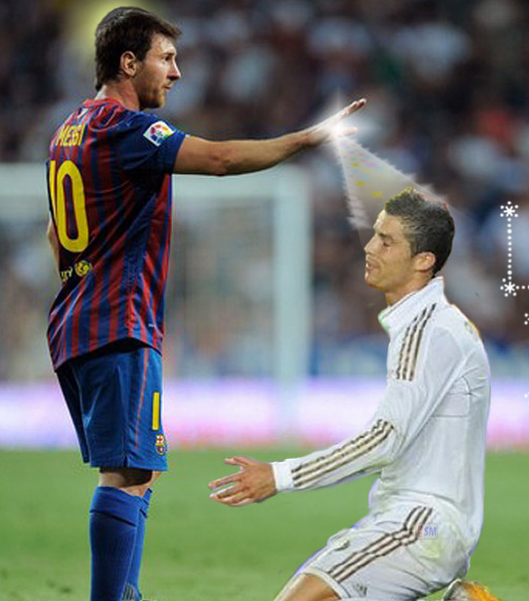 Funny Picture Of Messi And Ronaldo