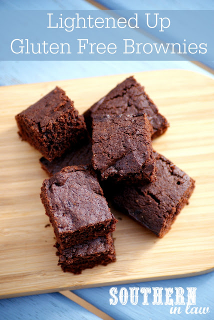Lightened Up Gluten Free Brownie Recipe with Chewy Edges  low fat, gluten free, low sugar, refined sugar free, clean eating friendly, healthy brownie recipes