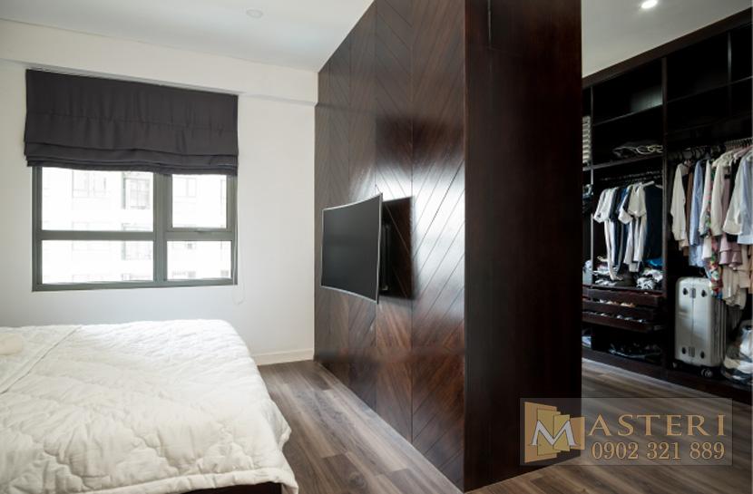 cho thuê căn hộ Masteri Thảo Điền - kệ tivi phòng khách