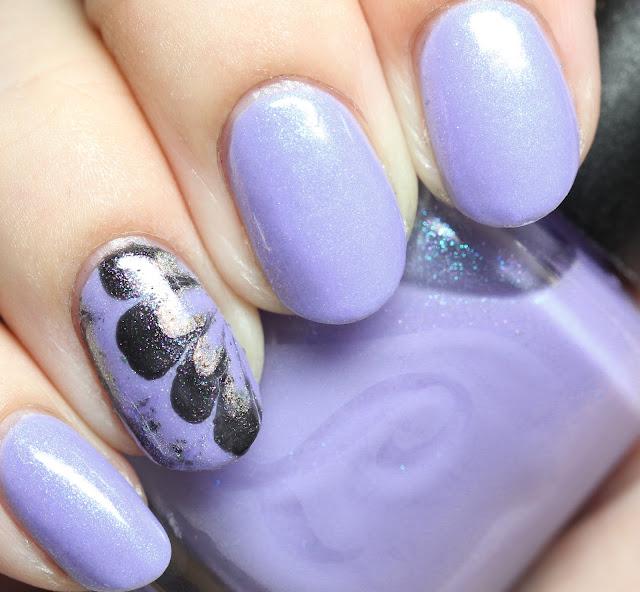 Indie-Galactic Box water marble nail art