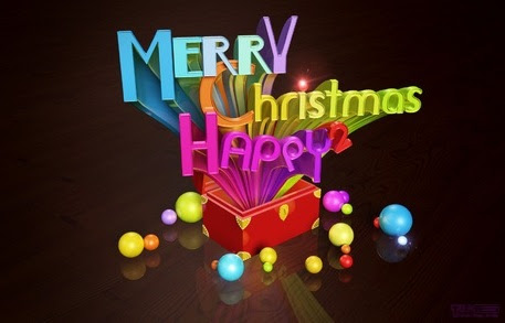 Merry Christmas 3D Words PSD