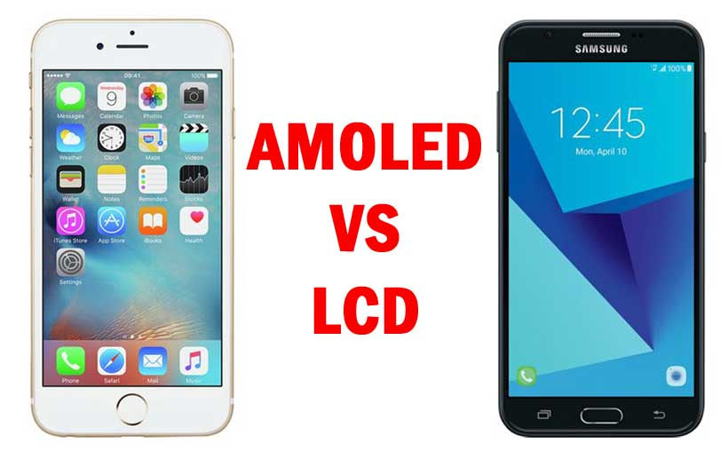 amoled displayvs lcd Display feature and perfomance