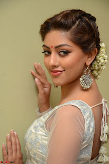 Anu Emmanuel in a Transparent White Choli Cream Ghagra Stunning Pics 053.JPG