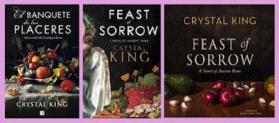 portadas del libro histórico El banquete de los placeres de Crystal King