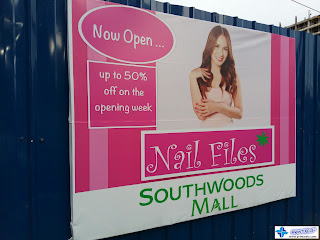 Tarpaulin Banner for Nail Files, Southwoods Mall Philippines