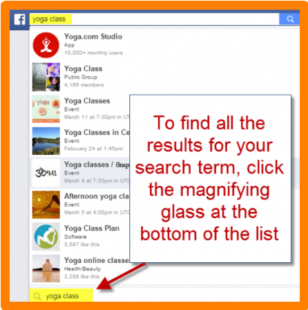 Search Facebook Posts