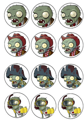 Zombies birthday party printables