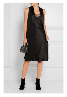 Платье-комбинация с жакетом без рукавов с удлиненным жилетом