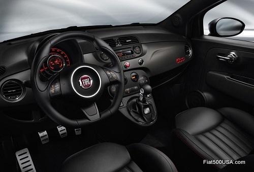 Fiat 500 GQ interior