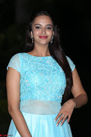 Pujita Ponnada in transparent sky blue dress at Darshakudu pre release ~  Exclusive Celebrities Galleries 099.JPG