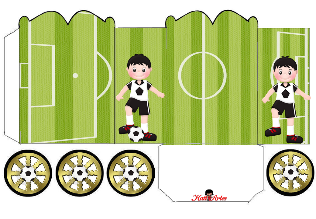 Soccer Princess Carriage Shaped Free Printable Boxes