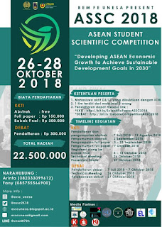 ASEAN STUDENT SCIENTIFIC COMPETITION (ASSC) 2018