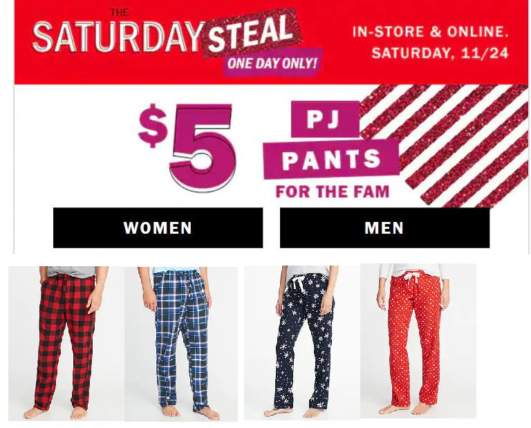 9465e67d98 Old Navy Flannel PJ Pants Only  5 + Free Store Pickup - HEAVENLY STEALS