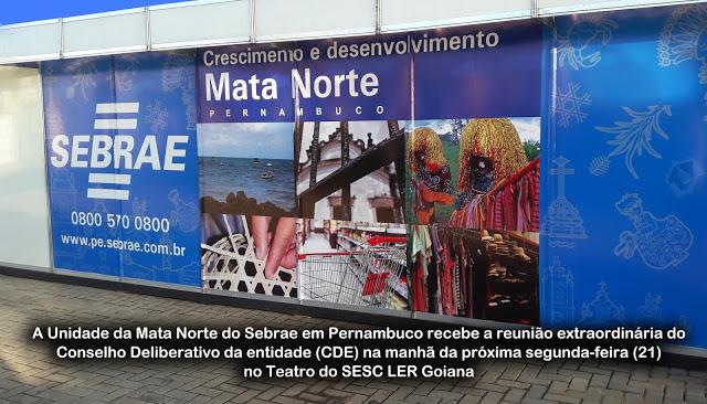 Sebrae/PE debate ações para 2017 na Mata Norte nesta segunda 21/11 no SESC LER Goiana