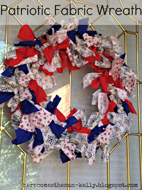 Here Comes the Sun: Patriotic Fabric Wreath