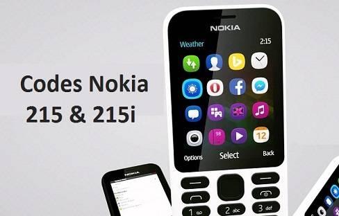 Codes Nokia 215i - 215 Code de Réstauration Nokia 215i et plus