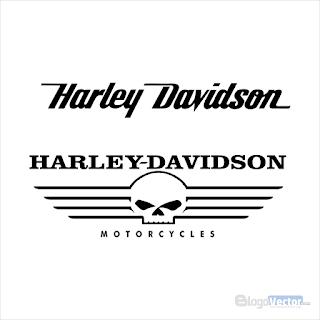 Harley Davidson wing skull Logo vector (.cdr)