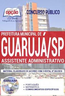postila Assistente Administrativo Prefeitura de Guarujá SP