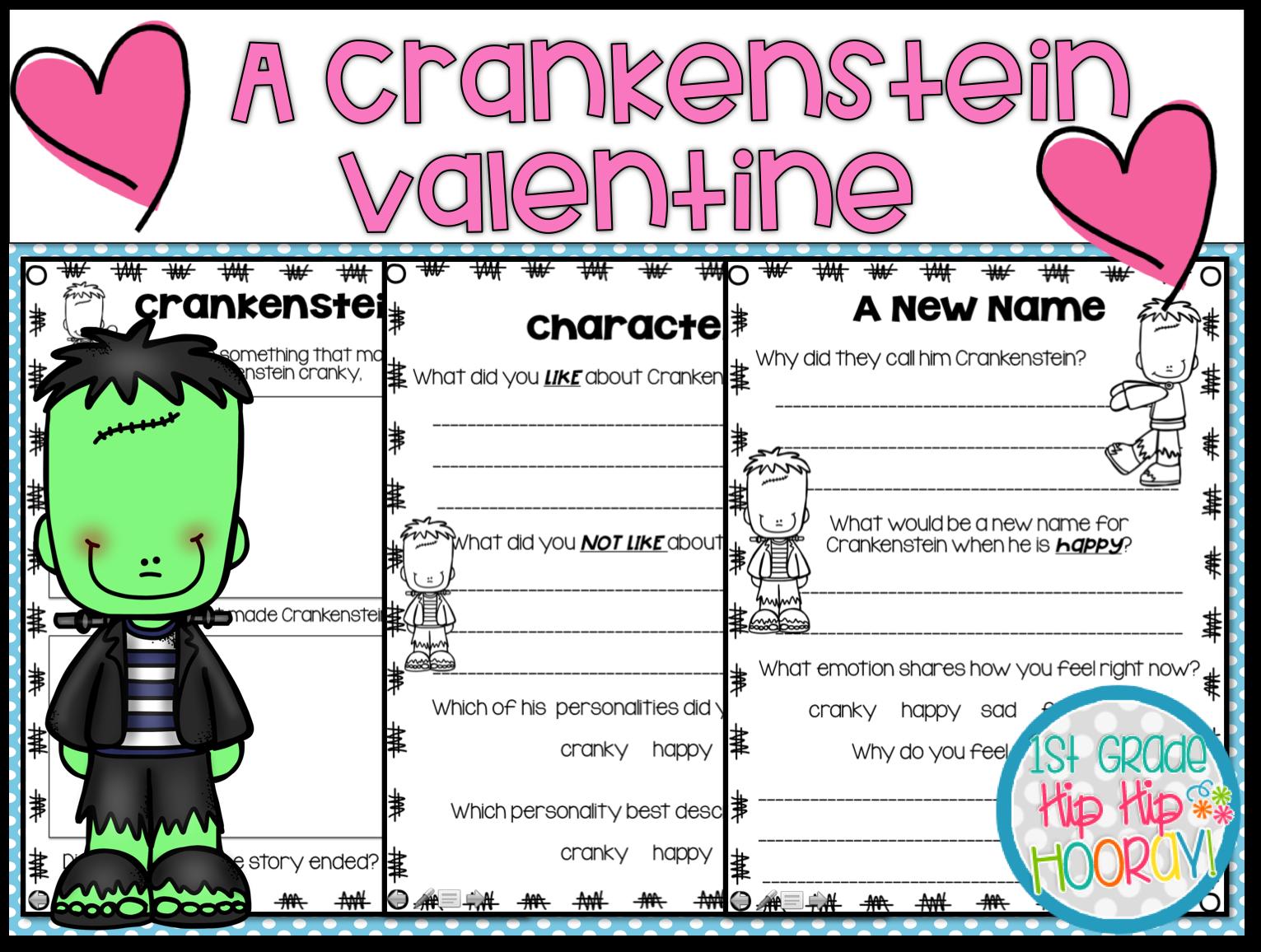 1st Grade Hip Hip Hooray A Crankenstein Valentine Afts And Activities