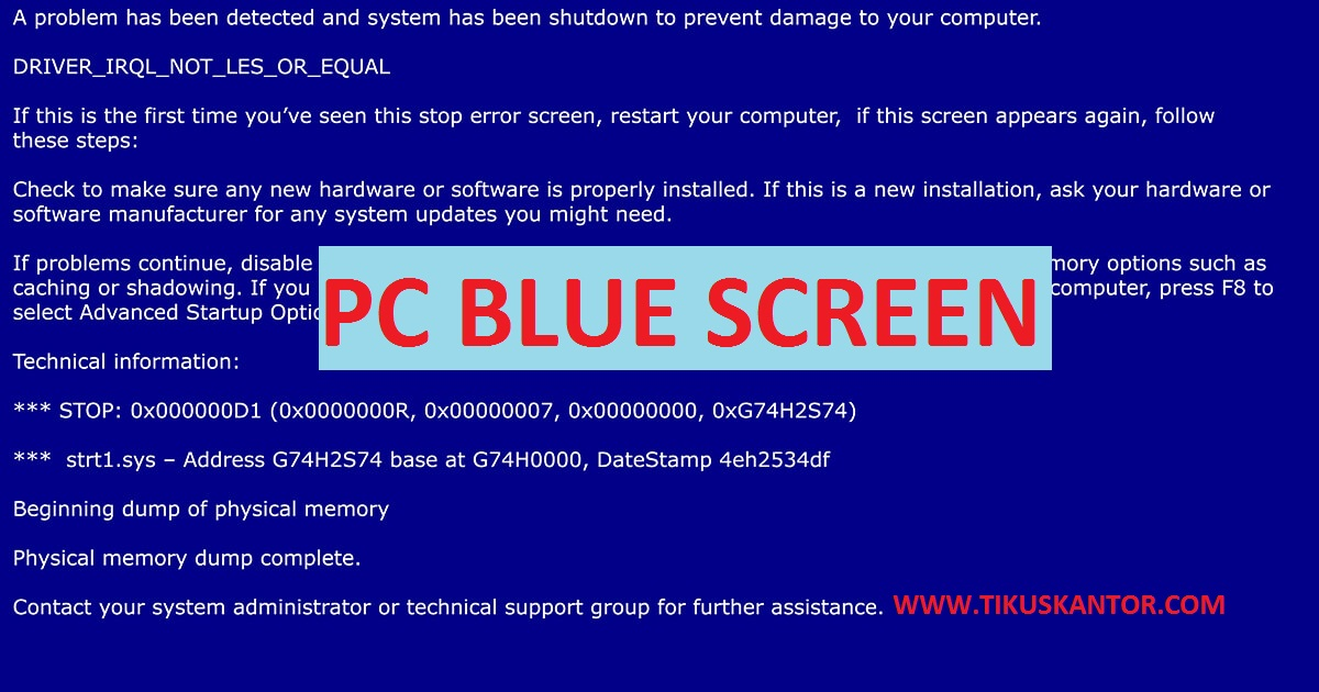 7 Cara Mengatasi Blue Screen Pada Laptop Dan Komputer Window 7