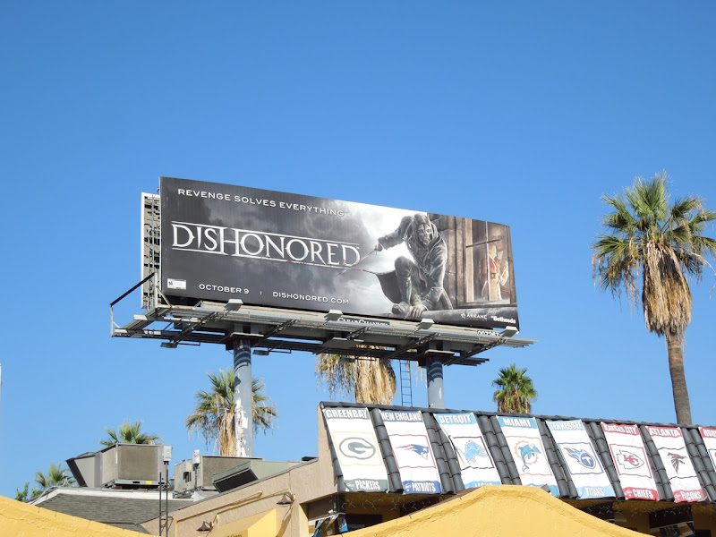 Dishonored video game billboard