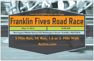 6th Annual Franklin & Bellingham Franklin Fives Road Race - May 14