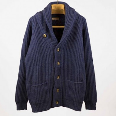 CARDIGAN SHAWL COLLAR SCOTT & CHARTERS