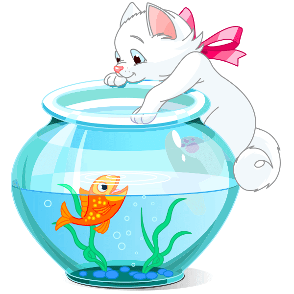 Cat and Fishbowl