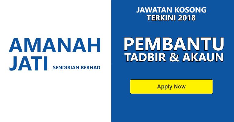 Jawatan Kosong di Amanah Jati Sdn. Bhd