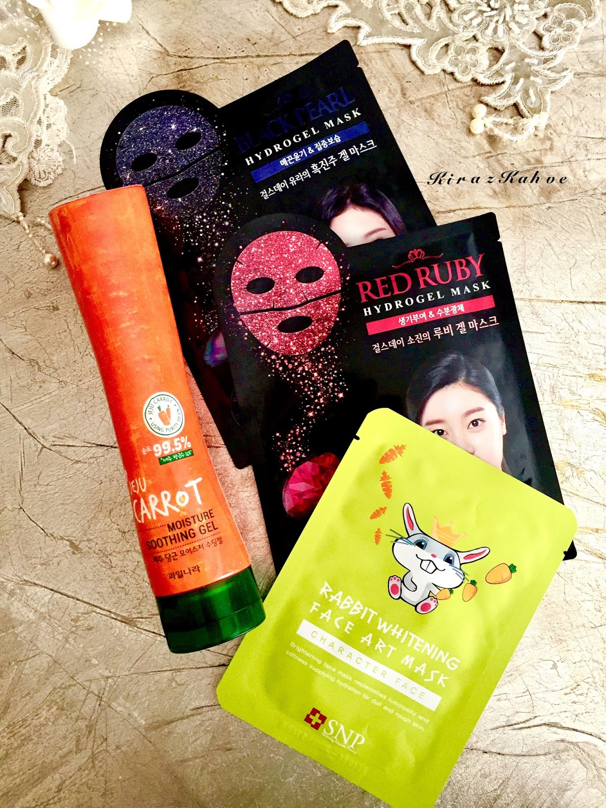 Jeju Carrot Moisture Soothing Gel - Hydrogel Mask - Rabbit Whitening Face Art Mask İncelemesi