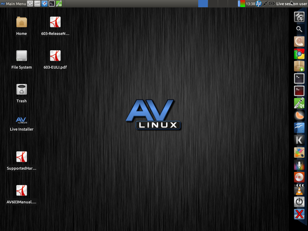 AV Linux: Audio - Graphics - Video workstation  Epic! - Mr