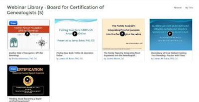 PRIOR BCG Webinars Now Available at Legacy Family Tree Webinars