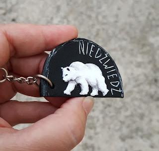 niedźwiedź, miś, bear, polar bear, miś polarny, brelok imienny, breloczek z imieniem, brelok personalizowany, keychain personalized, funny keychain, alphabet, letters, prezent, gift,